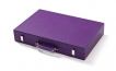 Leather Backgammon Set in Purple w/ Leather Pieces (6)