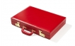 Leather Backgammon Set in Red (2)