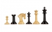 hand carved wooden chess pieces